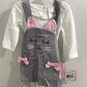 Bunny Dress Outfit With Tights. 3/6M NWT